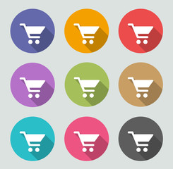 Shopping cart icon - Flat designs