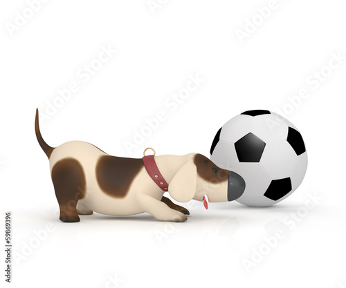 Dog With A Ball.
