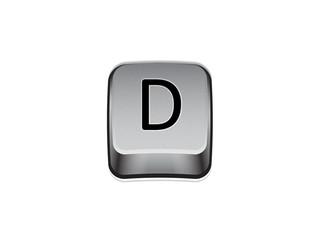 Tasto D tastiera computer