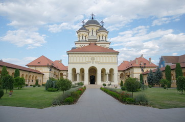 The Coronation Archbishop Cathedral in Alba Iulia, Transylvania