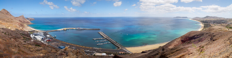 Porto Santo Harbour overview