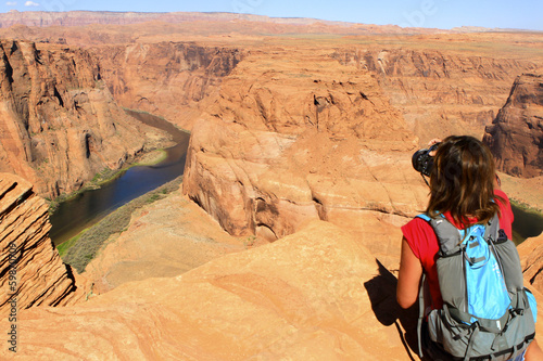 Photographe au Horse shoe bend, Arizona