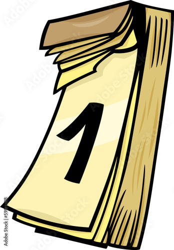1st on wall calendar cartoon clip art