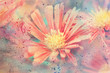 Quadro cute artwork with red aster's flower