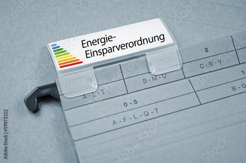 Ordner mit Energieeinsparverordnung