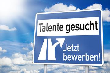 Wegweiser mit Talente gesucht