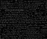 Chemistry vector seamless pattern with equations and formulas