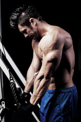 shoot of strong athletic man