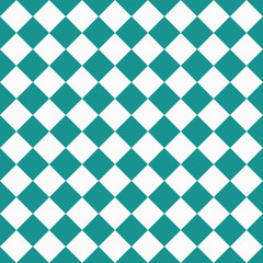 Dark Teal and White Diagonal Checkers on Textured Fabric Backgro