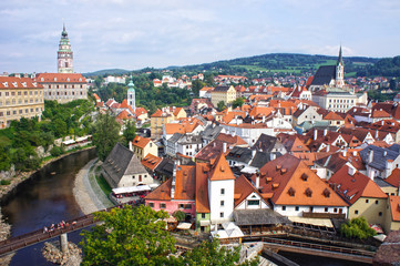 Panorama of Cesky Krumlov. UNESCO World Heritage