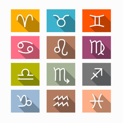Vector Zodiac, Horoscope Symbols