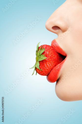 Strawberry lips.