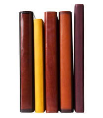 Five books with leather cover