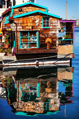 Floating Home Village Brown Houseboat Fisherman's Wharf Victoria