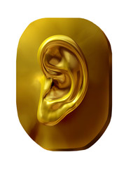 golden fragment of a human Ear