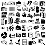 accounting black icons