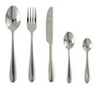 canvas print picture - spoon, knife and fork  on white