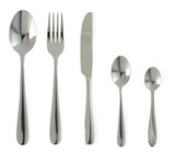 Fototapety spoon, knife and fork  on white
