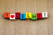 I Love Delhi, sign for countries, travel and place names