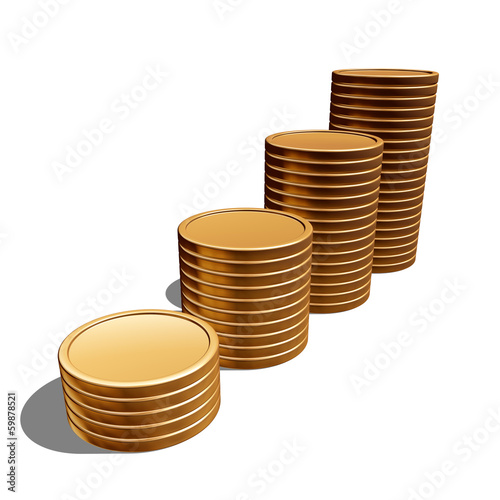 blank gold coins