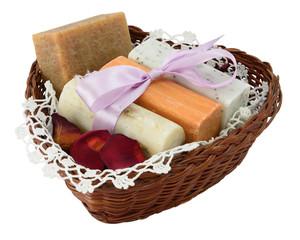Four natural soap