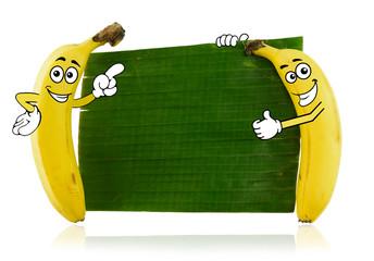 Banana cartoon characters