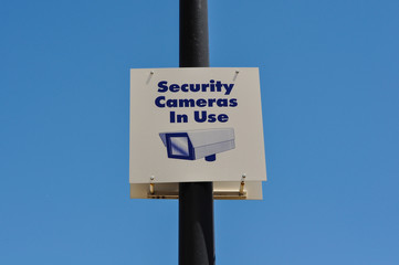 Security Camera in Use Sign