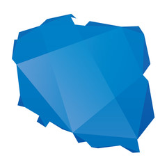 blue geometric map of Poland