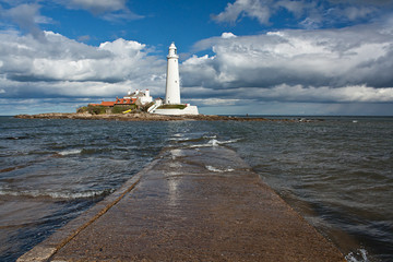 st marys lighthouse on the North East Coast