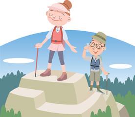 登山カップル