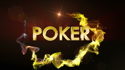 Poker Gold Text in Particles, with Final White Transition