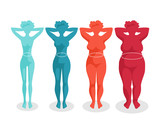 fast-food and body. Women with different body mass