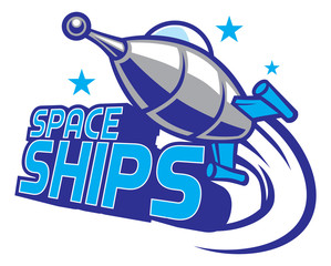 spaceship mascot design