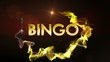 Bingo Gold Text in Particles, with Final White Transition