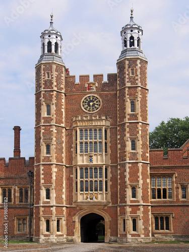 Eton College, Clocktower with entrance arch