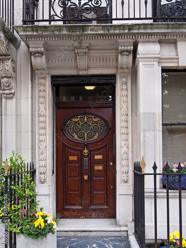 London, Harley Street, ornate door