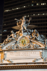 Grand Central Terminal clock by night,New York