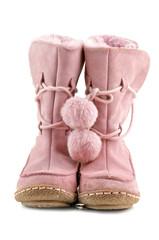 pair of pink shoe