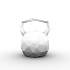 Abstract Kettlebell isolated. Illustration