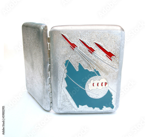 Old-fashioned cigarette case is Soviet Union