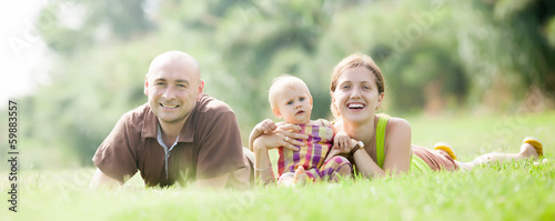 Happy parents with child