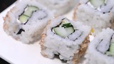 Rotating Sushi Pieces (HD Macro Video)