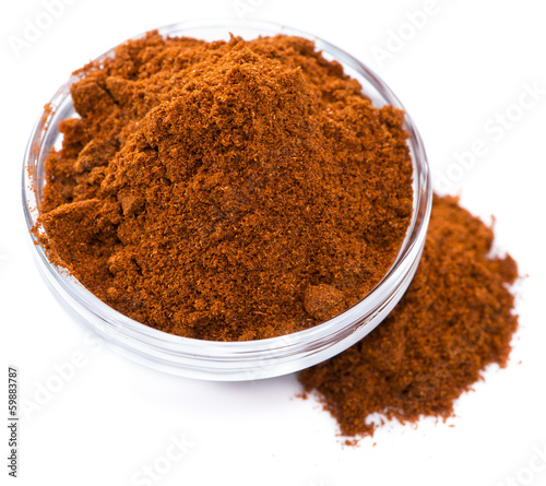 Paprika Powder (isolated on white)