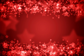 Red glowing bokeh holiday background