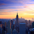 New York City skyline at sunset - 59884325