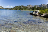 Clear lake in the summer Pyrenees