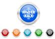 winter sale icon vector set