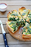 quiche with salmon and spinach