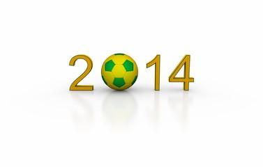 Fußball WM 2014 Brasilien - Schriftzug hell