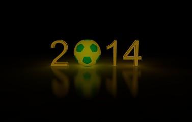Fußball WM 2014 Brasilien - Schriftzug leuchtend